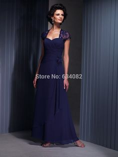 Mother of the Bride Dresses With Jacket Ankle-Length Evening Dresses For Women Lace Cap Sleeve Chiffon vestido de festa Longo