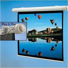 "136207 Salara Plug & Play Motorized Projection Screen - 55 x 92"" by Draper. $716.25. 136207 Features: -No wiring necessary.-Comes with 10' power cord, built-in IR receiver and IR remote.-RS232 compatible.-Mounts flush to the wall or ceiling with ''floating'' brackets on the back of the case.-Warranted for 1 year against defects in materials and workmanship. Dimensions: -Case dimensions are 3 13/16'' H x 5 5/16'' D."