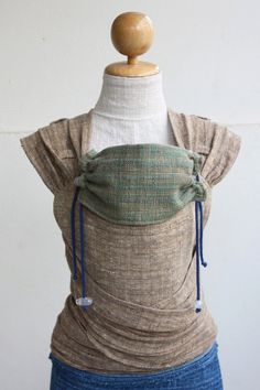 BaBy SaBye Wrap Mei Tai sling hand-woven two-side WITH A HOOD model35 BrownYellow/GreenBrown via Etsy
