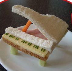 Grand Piano Sandwich for Bridal Shower perhaps?<3