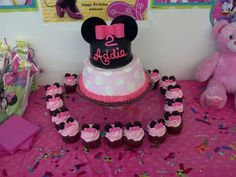 Minnie mouse birthday party :)