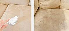 """Moncanapé de couleur lumineux et avec le temps dans des endroits où on s""""assis ou couché se produit des taches sombres, Comme je l'ai déjà essayé de nettoyer le tapis moi-même, (et ce fut avec succès), Je suis décidé à essayer de faire une petite expérience..."""