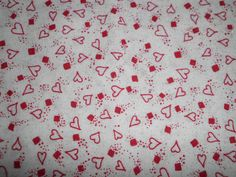 Valentine Love Red Hearts Fabric  42  By The Yard