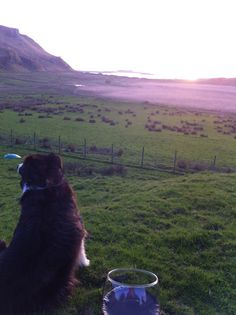Sunset over Mull behind Ardentrive on Kerrera.
