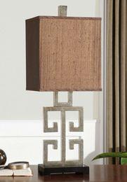 Greek Key Table Lamp by David Frisch