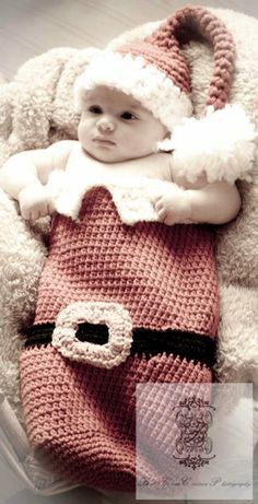 Crochet Newborn Boy or Girl Papoose  Santa is by mymomshands, $50.00