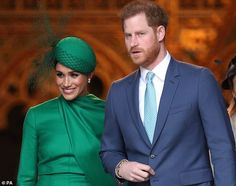 The Duke and Duchess of Sussex leave the Commonwealth Service at Westminster Abbey in Lond...