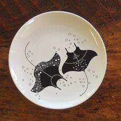 Manta Ray from kickstarter http://www.kickstarter.com/projects/1950088238/nautical-and-sea-life-inspired-dinnerware