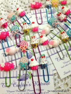 4 Super Sweet Sweets Cute Kawaii Paper Clips for Planners, Filofax, Gillios or Books