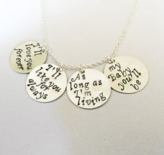 I'll love you forever Hand Stamped Necklace I'll by RobertaValle
