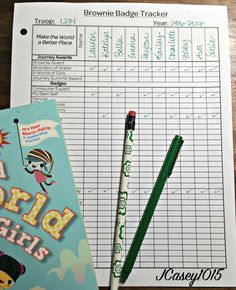 With so many Girl Scout Brownie things to do, this form is just what a leader needs to make sure her troop is organized and earning all the journeys and badges that are available.