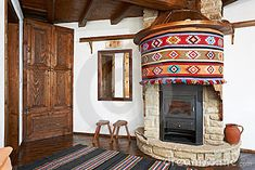 Traditional interior of Bulgarian house