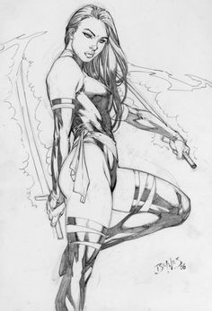 Psylocke by Ed Benes   She is, IMO, the sexiest super hero by several orders of magnitude.