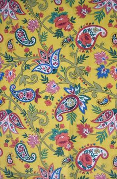 Cotton yellow paisley - photos from Red Letter Fabrics Abstract Coloring Pages, Flower Coloring Pages, Coloring Book Pages, Mandala Coloring, Coloring Sheets, Paisley Art, Paisley Fabric, Paisley Design, Batik Pattern