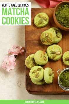 Check out this delicious and easy to make matcha cookies recipe.The hint of green tea makes these cookies perfect for anytime of day. Crunchy and buttery and you can customize them any way you like by adding nuts or chocolate chips, too. #MatchaCookies #MatchaCookiesRecipe