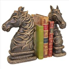 STALLION SILHOUETTE BOOKEND PAIR