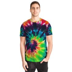 Most Stylish Men, Stylish Man, Luxury Ties, Tie Dye Techniques, Best T Shirt Designs, Tie Dye Designs, Womens Flip Flops, Tye Dye, Rainbow Colors