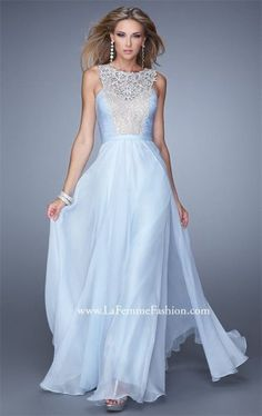 Powder Blue Long La Femme 21222 Prom Dresses 2015 Sale