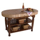 Found it at Wayfair - John Boos American Heritage Harvest Kitchen Island with Butcher Block Top