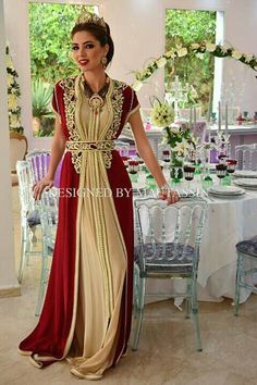 Gorgeous Moroccan red caftan #moroccancaftan