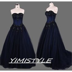 navy blue prom dresses,navy blue long prom dresses,long navy blue prom... (295 CAD) ❤ liked on Polyvore featuring dresses, gowns, navy blue gown, blue gown, navy blue evening gown, long dresses and prom gowns