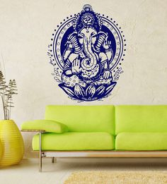 Ganesh Ganesha Elephant Lord of Success Hindu Hand God Buddha India Housewares Wall Vinyl Decal Design Interior Bedroom Decor Sticker SV4151 on Etsy, $24.99