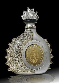 """""""Henri IV Dudognon Heritage Cognac"""" is a $2 million dollar bottle of cognac. Aged for over 100 years this cognac is known to be the finest and most expensive cognac in the world. But to make it worst, whats in the bottle doesn't make it worth the millions, the bottle seals the deal!  The bottle is made of handcrafted crystal, covered in over over 6000 diamonds, and is dipped in 24 karat gold and sterling platinum. All of this make this bottle to be the most expensive bottle of liquor in…"""