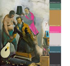 neo rauch - may be a colour exercise in here somewhere...