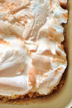 Orange Creamsicle Freezer Dessert from @sandycoughlin  | ReluctantEntertainer.com