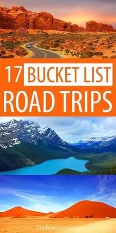 Most scenic roads and beautiful road trips from all over the world #travelinspiration #roadtrip #TravelDestinationsUsaSouth