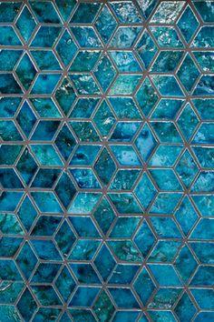 #newterracotta #handmadetiles #mysteryteal #tealtiles Barn Kitchen, Kitchen Tiles, Rhombus Tile, Small Bathroom, Bathroom Ideas, Blue Gold, Teal, Bohemian Interior Design, Portuguese Tiles