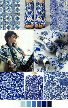 S/S 2016 China Blue pattern print Textures Patterns, Color Patterns, Print Patterns, Pattern Print, Mode Inspiration, Color Inspiration, Fashion Forecasting, Blue China, 2016 Trends