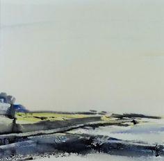 COAST FIELDS, East Prawle, Devon, June 2016. Original Watercolour Landscape Painting.
