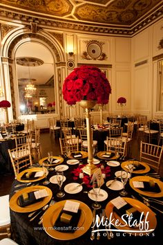 gold centerpiece - with ivory flowers