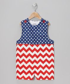 Take a look at this Red & White Patriotic John Johns - Infant & Toddler by Sew Childish on #zulily today!