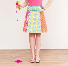 Multicolor flower skirt