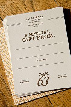 Oak 63 Gift Cards by Nathaniel Cooper, via Flickr