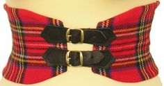 Tartan Corset Belt in Pure New Wool by Scotweb Traditional Scottish Ladieswear - I have been looking for just this!