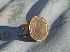 Wheat Penny Hand-Soldered Ring. $20.00, via Etsy.