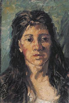 Van Gogh, a mulher com o cabelo solto, de dezembro de 1885. Óleo sobre tela, 35 x 24 cm. Museu de Van Gogh, Amsterdam