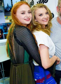 Natalie Dormer and Sophie Turner at San Diego Comic Con 2015 SDCC