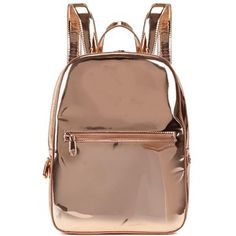 Womens Backpacks DKNY Rose Gold Leather Backpack