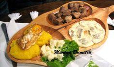 Romaniana polenta, with fried pork, chicken and mushroom omlette. Bon Apetit!