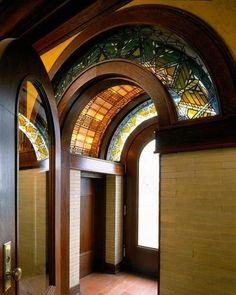 Weather Vestibule :: Frank Lloyd Wright :: Susan Lawrence Dana House, 1902-1904 :: Springfield, Illinois