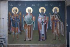 Byzantine Icons, Orthodox Icons, Ikon, Saints, Projects To Try, Angel, Painting, Murals, Composition