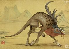 The gudiao is a bird from ancient Chinese belief that features in the early bestiaries. It lived in the mountains and had the form of an eagle but with horns on its head. It made the cry of a baby. Thing is, it's not very avian at all.