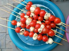 Great for Labor Day or of July: Grilled tomato-mozzarella skewers: Great for Canada Day or Independence Day! Tomato Mozzarella Skewers, Mozzerella, Canada Celebrations, Canada Day 150, Canada Day Party, Shabbat Dinner, Canada Holiday, Grilled Tomatoes, Canadian Food