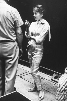 Debbie Reynolds during rehersals for the 30th annual Academy Awards show at the RKO Pantages theatre, 1957.