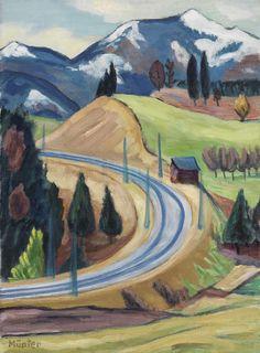 peira:  Gabriele Münter: Straßendurchstich (c.1935)