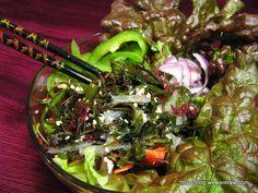 Raw seaweed salad recipe with Light Asian dressing